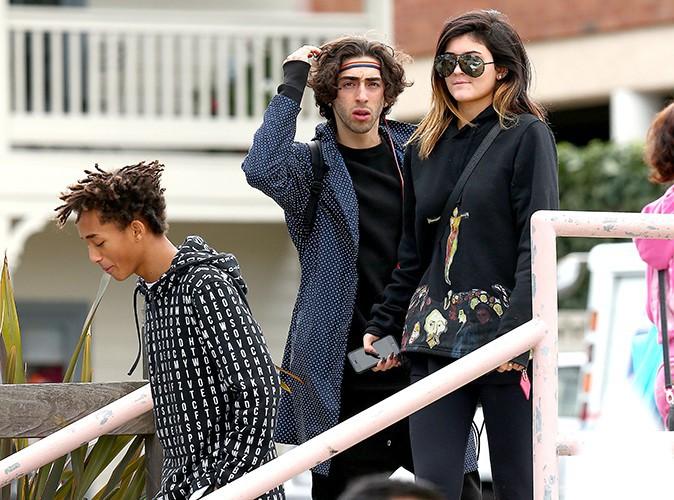 Kylie Jenner et Jaden Smith entourés de Moises et Mateo Arias à Los Angeles le 8 février 2014