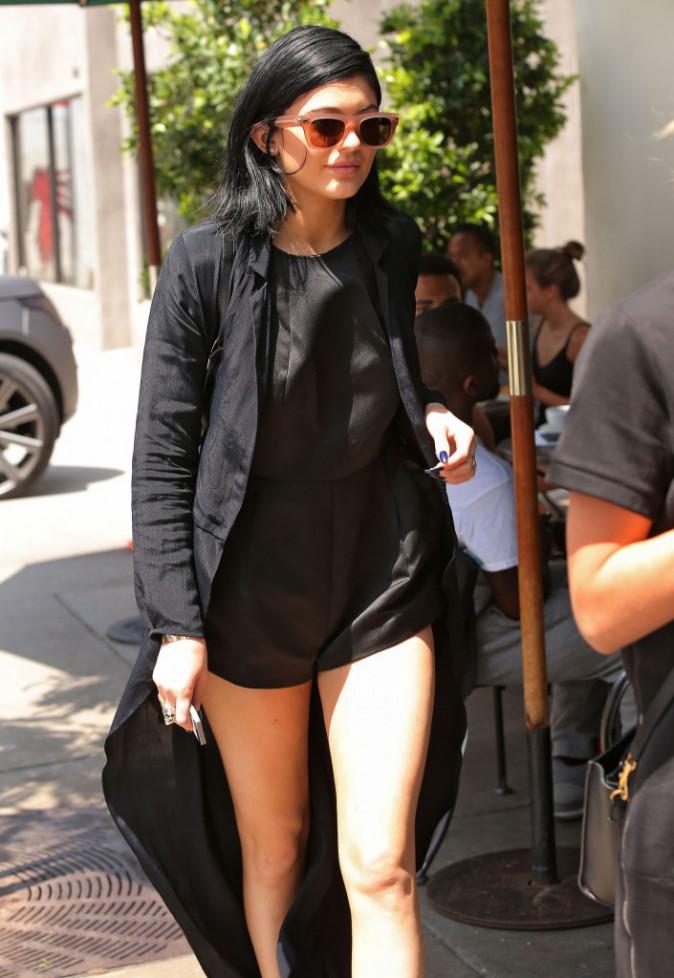 Kylie Jenner avec une amie à l'urth Cafe de West Hollywood, le 19 août 2014.