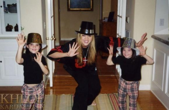 Kylie à droite, avec Khloé et Kendall