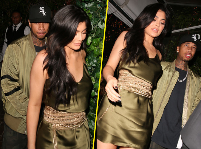 Photos : Kylie Jenner et Tyga : Matching couple rayonnant pour aller dîner !