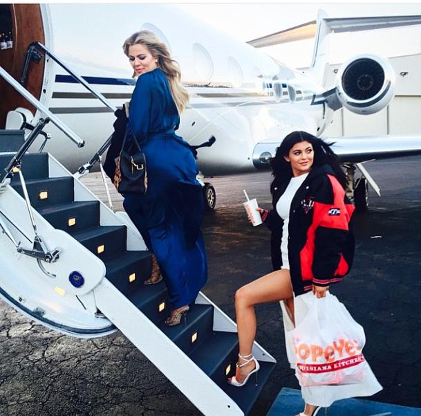 Kylie Jenner et Khloe Kardashian le 14 mai 2015