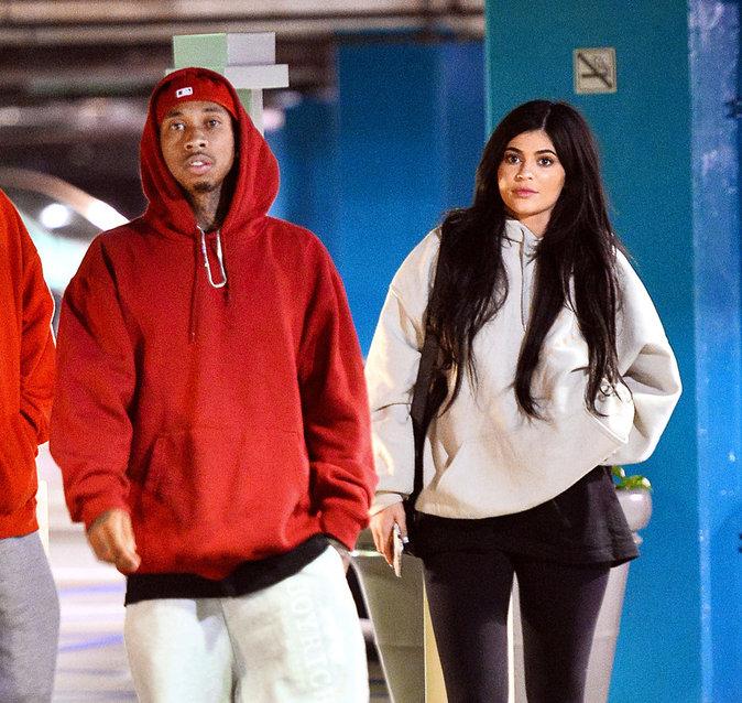 Kylie Jenner et Tyga, à la sortie d'un cinéma de L.A.