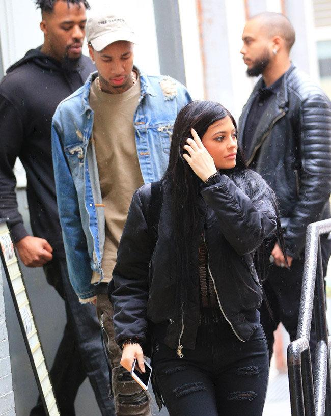 Kylie Jenner et Tyga à New-York le 10 novembre 2015