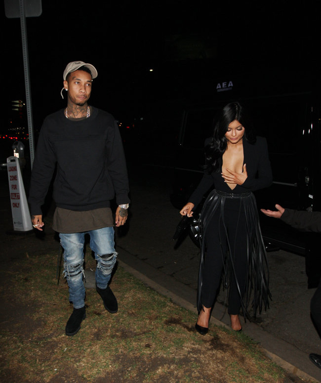 Kylie Jenner et Tyga à Los Angeles le 12 novembre 2015