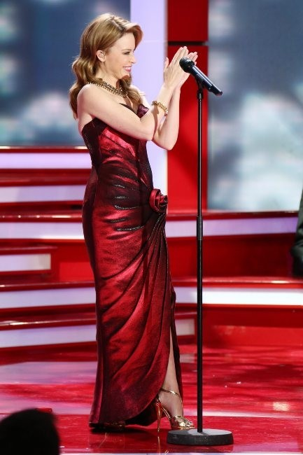 Kylie Minogue le 16 décembre 2012 à Berlin