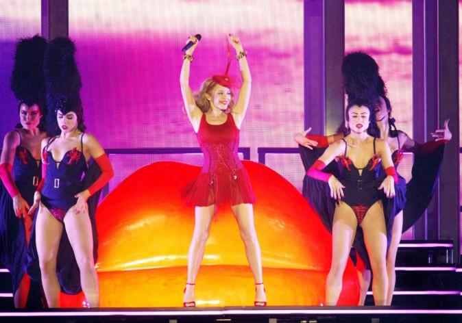 Kylie Minogue à Liverpool le 24 septembre 2014