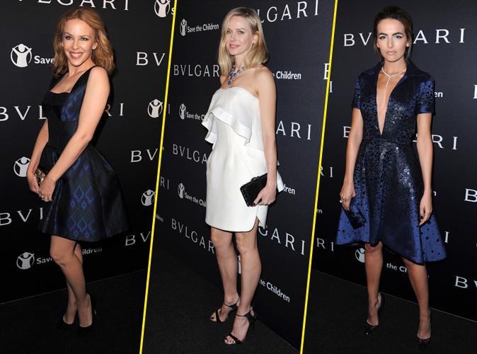 Photos : Kylie Minogue, Naomi Watts, Camille Belle... brochette de jolies starlettes à la soirée Bulgari !