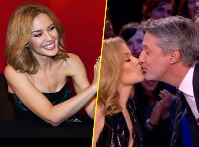 Kylie Minogue : séance de dédicaces et french kiss avec Antoine de Caunes, sacrée promo à Paris !
