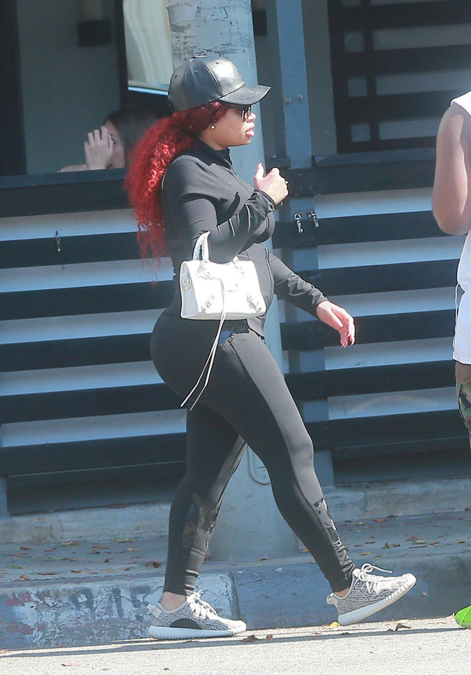 Blac Chyna enceinte dans les rues de Los Angeles