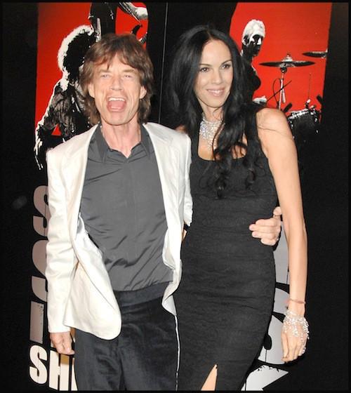 2008, à la première du documentaire sur les Rolling Stones, L'Wren Scott met en avant une silhouette parfaite à New York