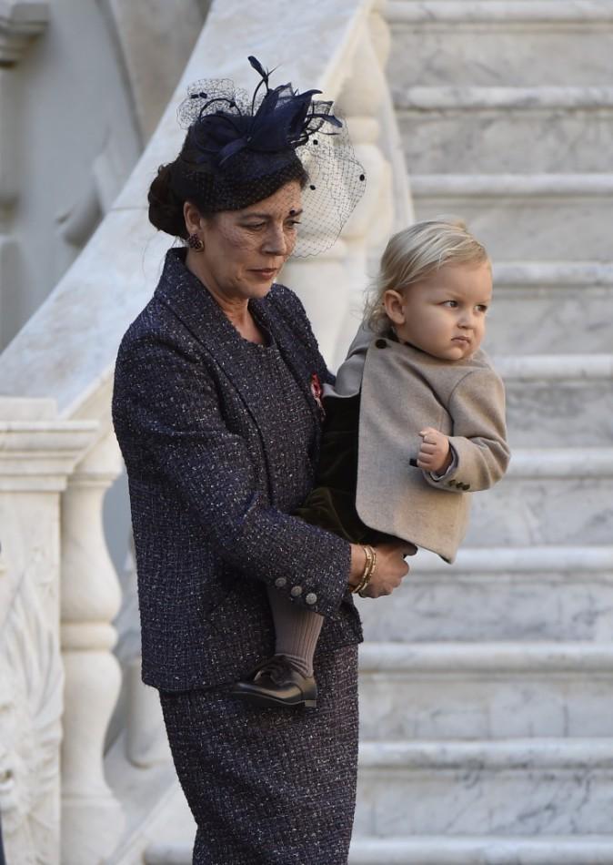 Caroline de Monaco et Sacha Casiraghi le 19 novembre 2014