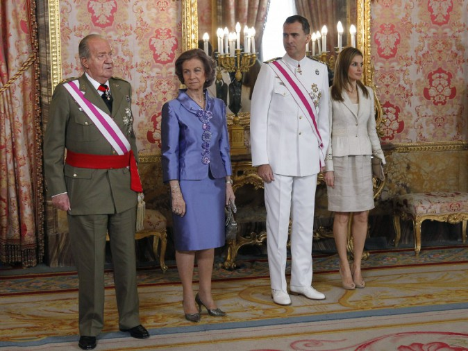 La famille royale d'Espagne réunie pour la journée des Forces armées !