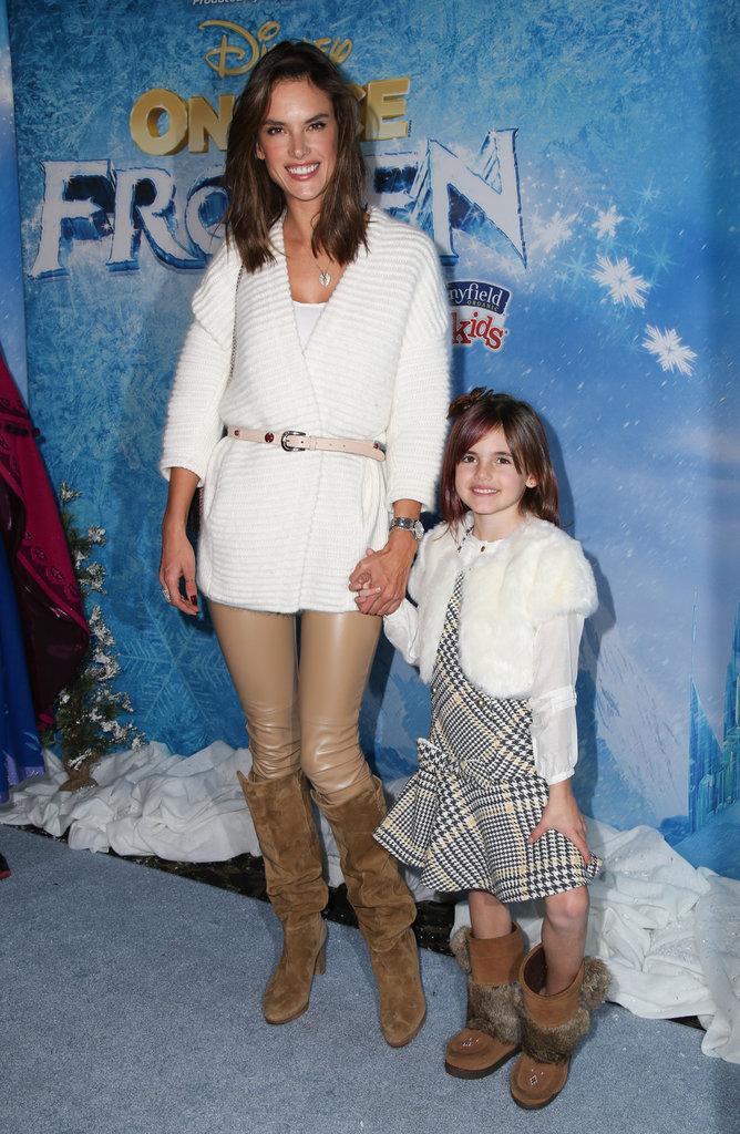 Photos : la fille d'Alessandra Ambrosio : un futur model, comme maman !