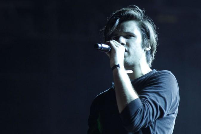 Orelsan au concert Urban Peace 3 organisé au Stade de France le 28 septembre 2013
