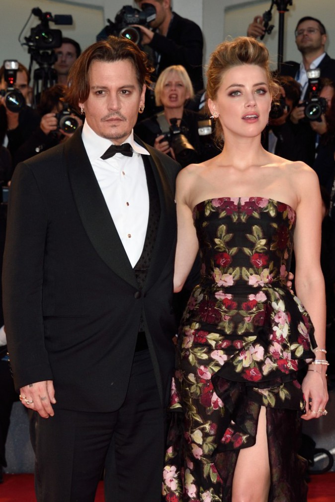Johnny Depp et Amber Heard le 5 septembre 2015