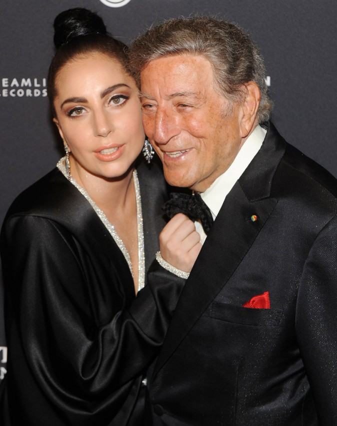 "Lady Gaga avec Tony Bennett pour leur concert ""Tony Bennett & Lady Gaga: Cheek To Cheek Live"" le 28 juillet 2014"