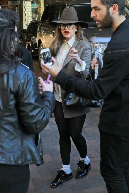 Lady Gaga le 10 janvier 2013 à Vancouver
