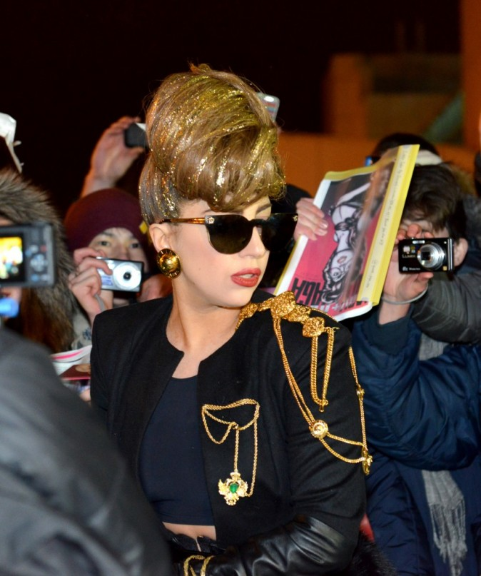 Lady Gaga arrive à St-Petersbourg hier