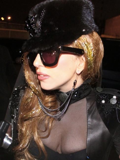 Lady Gaga le 10 décembre 2012 à Moscou
