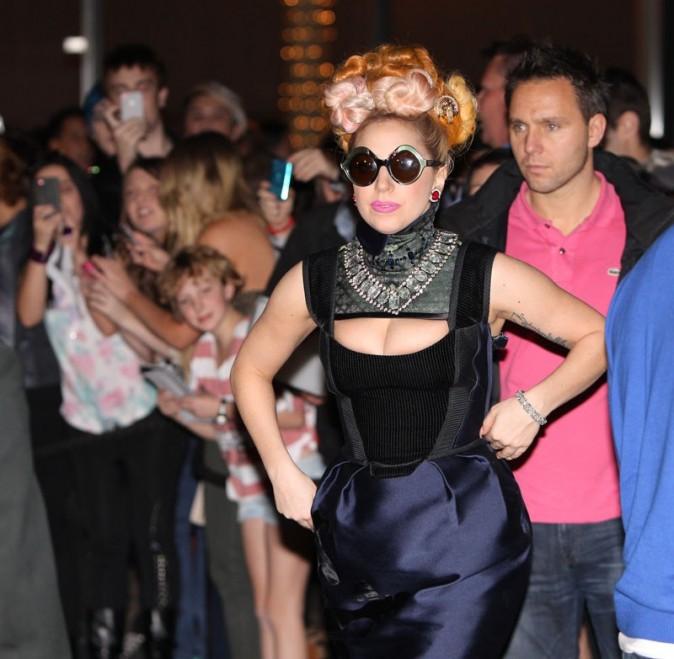 Lady Gaga à Perth le 5 juillet 2012
