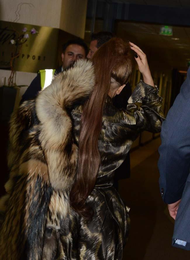 Lady Gaga à son départ de Paris le 24 septembre 2012