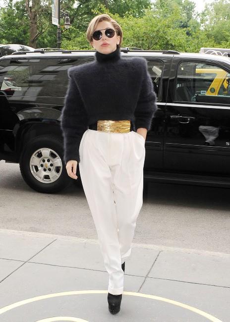 Lady Gaga dans les rues de New York, le 19 août 2013.