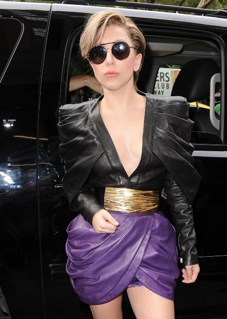 Lady Gaga en promo à New York, le 19 août 2013.