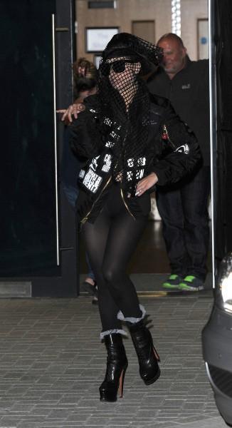 Lady Gaga en promo à Londres, le 29 août 2013.