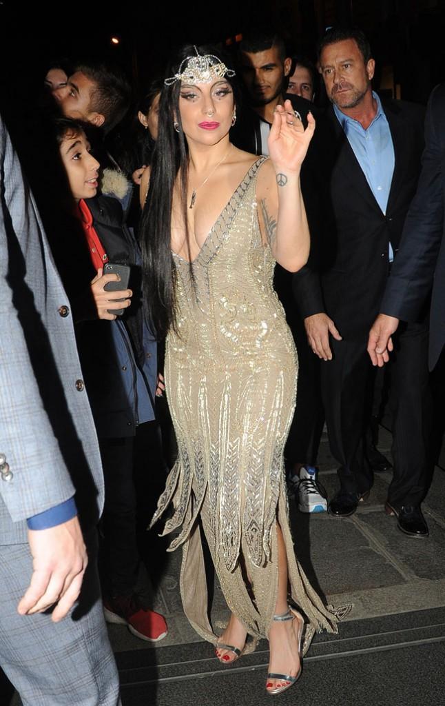 Lady Gaga à Paris le 30 octobre 2014