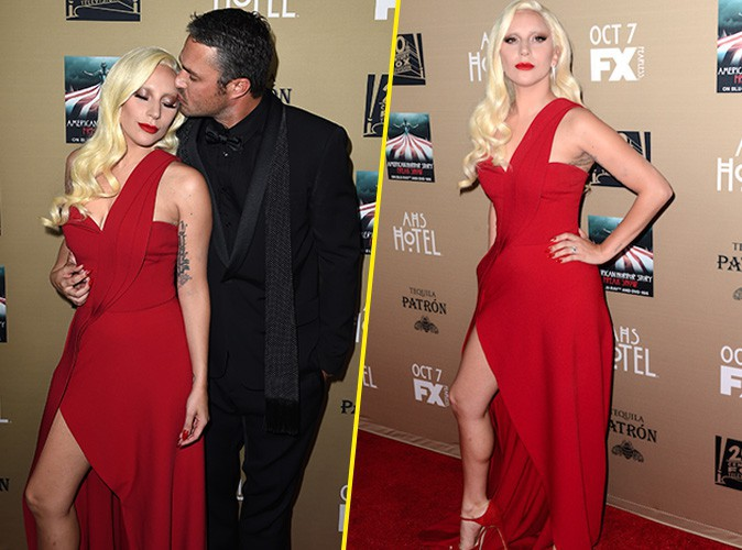 Lady Gaga et Taylor Kinney le 3 octobre 2015