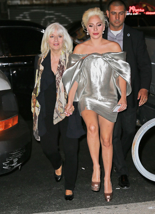 Lady Gaga et sa maman à New-York le 6 octobre 2015