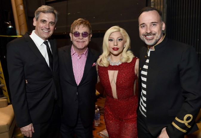 Lady Gaga et Elton John le 22 mars 2015