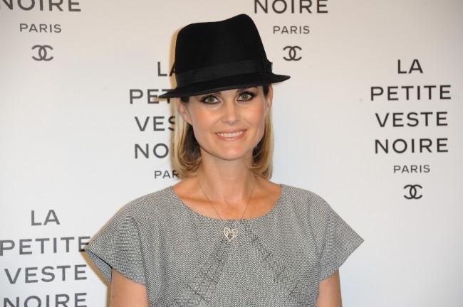 Laeticia Hallyday lors de la soirée Chanel à Paris, le 8 novembre 2012.