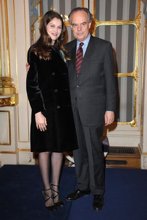 Avec le Ministre de la Culture, Frédéric Mitterrand