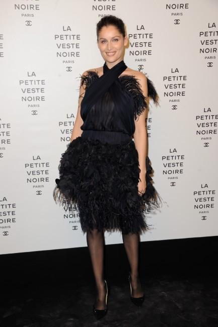 Laetitia Casta lors de la soirée Chanel à Paris, le 8 novembre 2012.