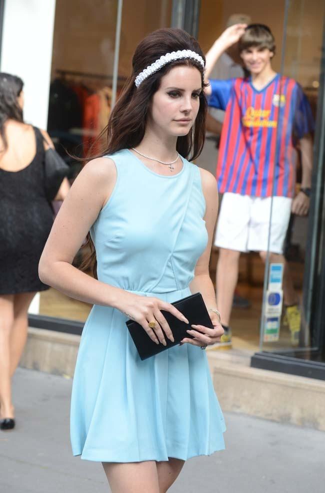 Lana Del Rey le 2 juillet 2012 à Paris
