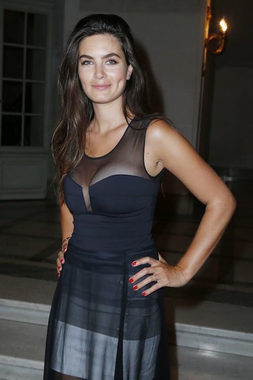 Lara Micheli à la soirée du magazine Lui, relancé par son chéri