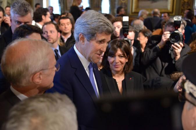 John Kerry à la mairie de Paris le 16 janvier 2015