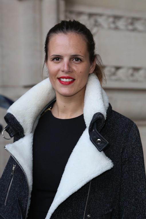 Laure Manaudou au défilé Guy Laroche organisé au Grand Palais, à Paris, le 26 février 2014