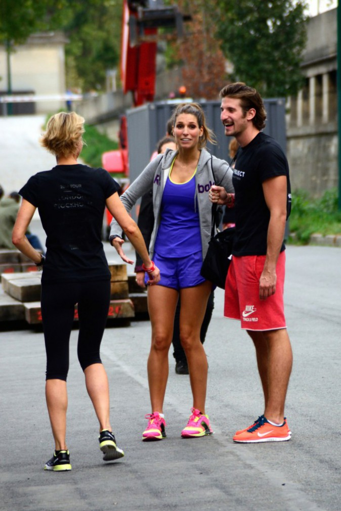 photos laury thilleman gonfl e bloc pour une s ance de sport intensive. Black Bedroom Furniture Sets. Home Design Ideas