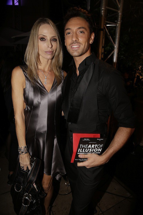 Tonya Kinzinger et Maxime Dereymez à la soirée Make Up For Ever le 24 septembre 2014 !