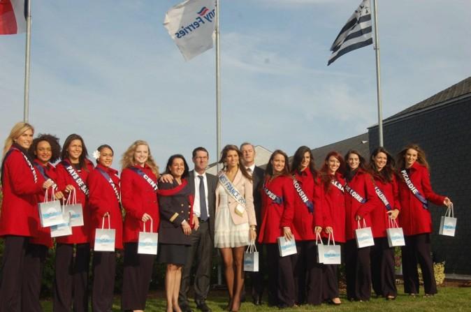 Avec les prétendantes au titre de Miss France 2012 !