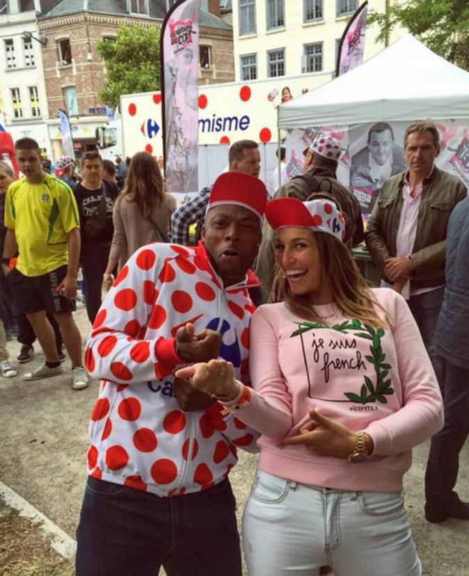 Laury Thilleman s'éclate sur le Tour de France avec Sylvain Wiltord !