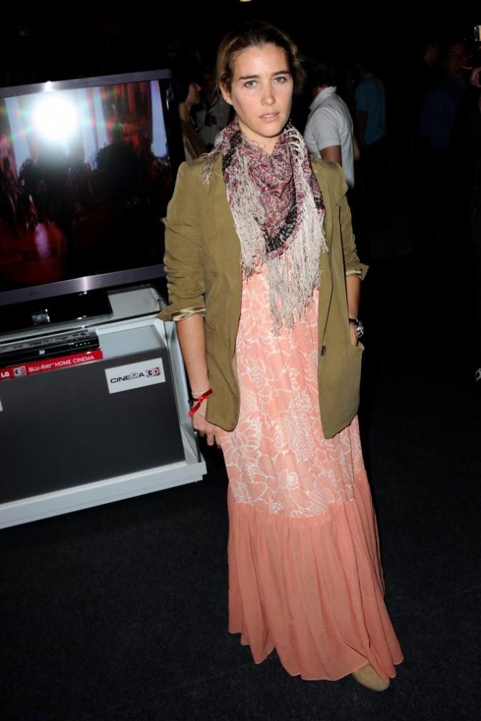 Vahina Giocante lors de la soirée LG à Paris, le 21 avril 2011.