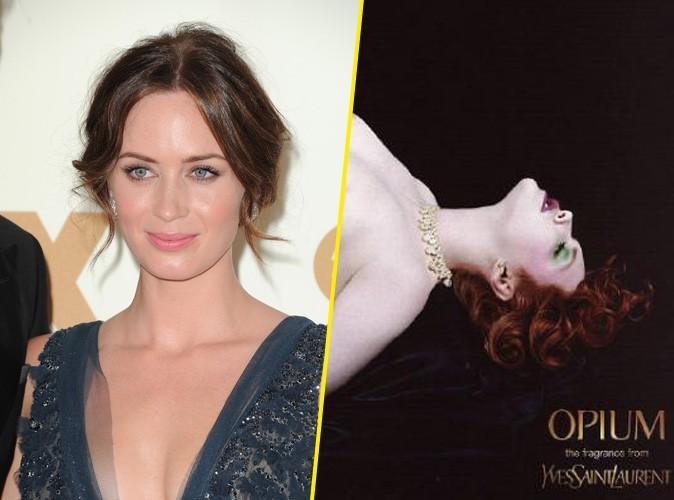 Photos: Le nouveau visage du célèbre parfum Opium est dévoilé : ce sera celui d'Emilie Blunt !
