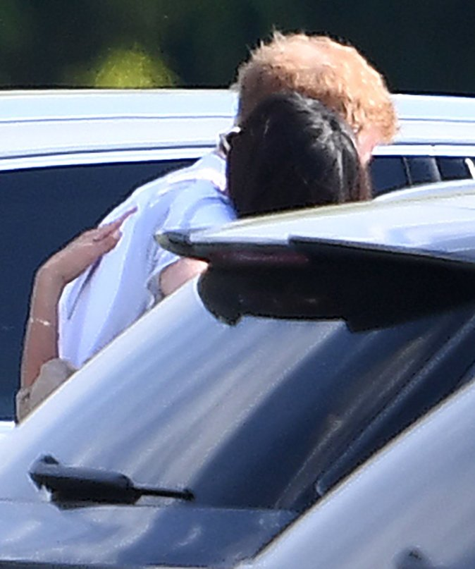 Le Prince Harry et Meghan Markle après un match de polo - Ascot, le 6 mai 2017