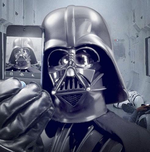 Le selfie de Dark Vador !