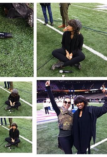 Jennifer Hudson sur le terrain après le concert !