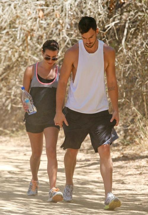 Photos : Lea Michele : câline, elle ne lâche plus son boyfriend, Matthew Paetz !
