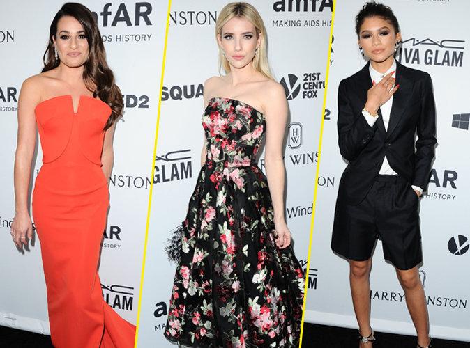 Lea Michele, Emma Roberts, Zendaya... que de beautés au gala de l'amfAR !
